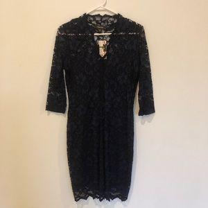 Navy blue lace dress Karen Kane size small